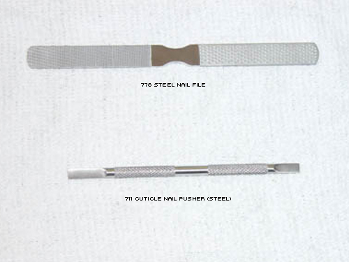 Steel Nail File Cuticle Pusher